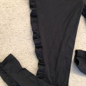 Soybu Pants - Black ruched leggings